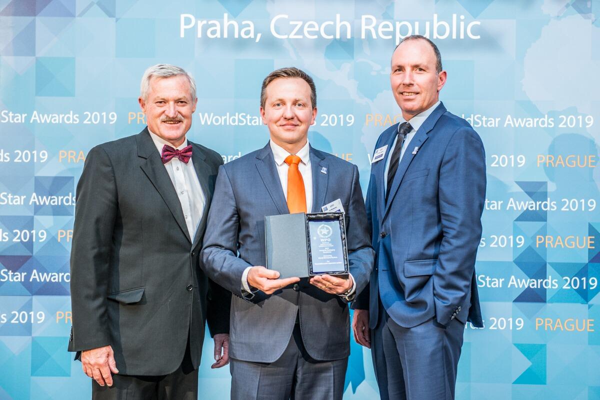 Preisverleihung an Jan Blankiewicz von Mondi Polen (Bild: World Star Award)