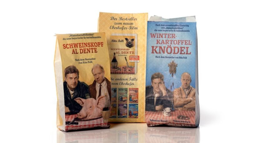 Mit Filmmotiven wirbt Constantin Film für die Eberhofer-Krimis.