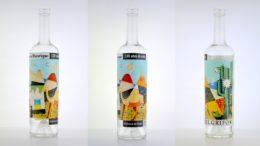 EL GRIFO-Flasche, bedruckt mit der O-I : EXPRESSIONS Technologie