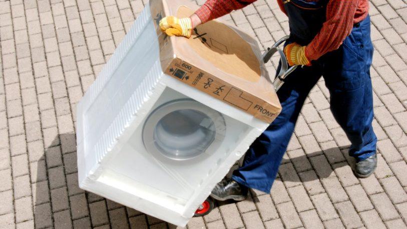 Waschmaschinen-Transportverpackung mit EPS (Bild: esemelwe/IK)