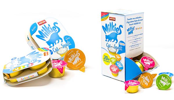 Portionsverpackungen für Katzenmilch (Bild: Constantia Flexibles)