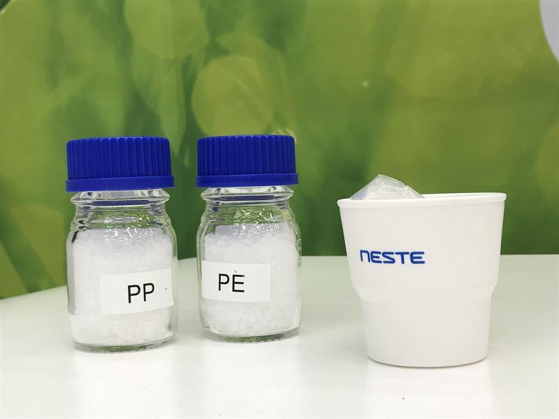 Biobasiertes PP und PE aus erneuerbaren Kohlenwasserstoffen (Bild: Neste)