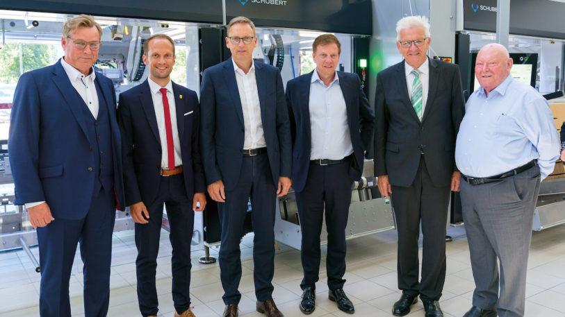 Ministerpräsident Kretschmann zu Besuch bei der Gerhard Schubert GmbH (Bild: Gerhard Schubert GmbH)