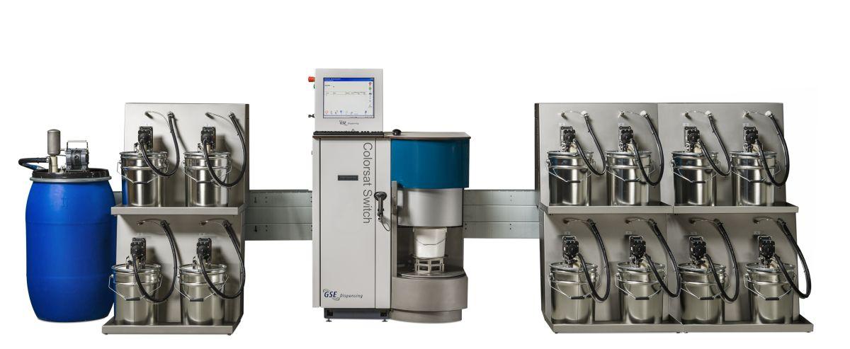Colorsat Switch-Dosiersystem für den Etikettendruck (Bild: GSE)