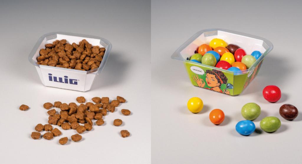 Gut! Scharf! Neu! ILLIG präsentiert die Kunststoff-Karton-Verbund-Packung IML-T® Cardboard (Bild: ILLIG)