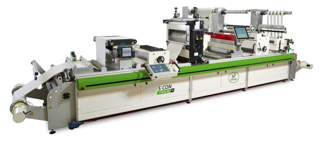 Mit der S-CON Starline von Spilker kann Standardetikettenmaterial und CLS®-Material verarbeitet werden. (Bild: Spilker)