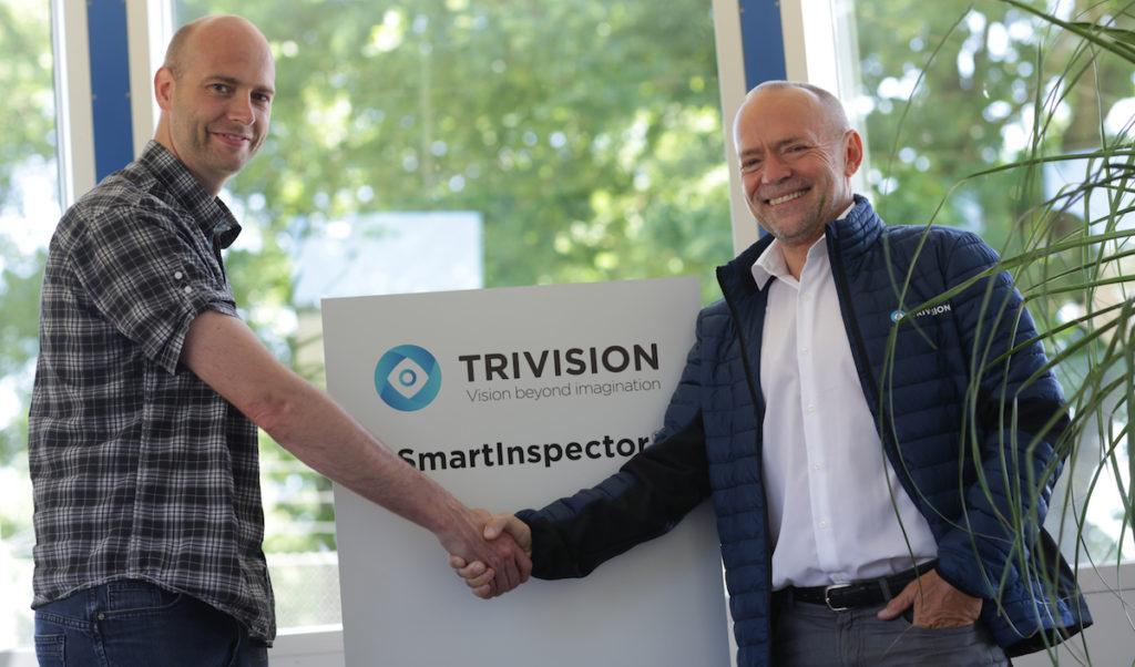 IT consultatnt Steffen Jørgensen from Danish Crown and Founder of TriVision Ole K. Neckelmann (Bild: TriVision)