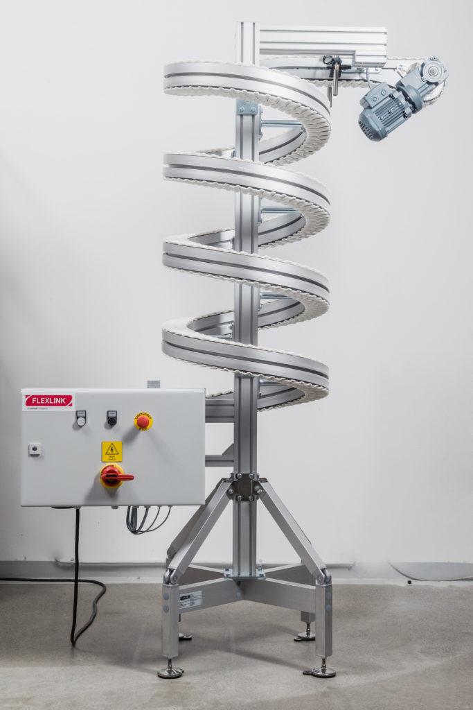 Der kompakte Spiralförderer von FlexLink (Bild: FlexLink)