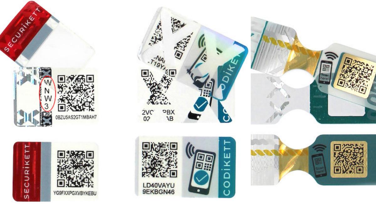 PIN-Code freigelegt, zerstört und abgezogen (Bilder: RFID: Securikett)