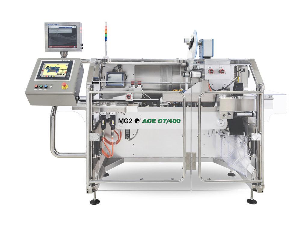 Bis zu 400 Schachteln pro Minute können mit dem Modell ACE CT/400 verarbeitet werden. (Bild: MG2 s.r.l.)