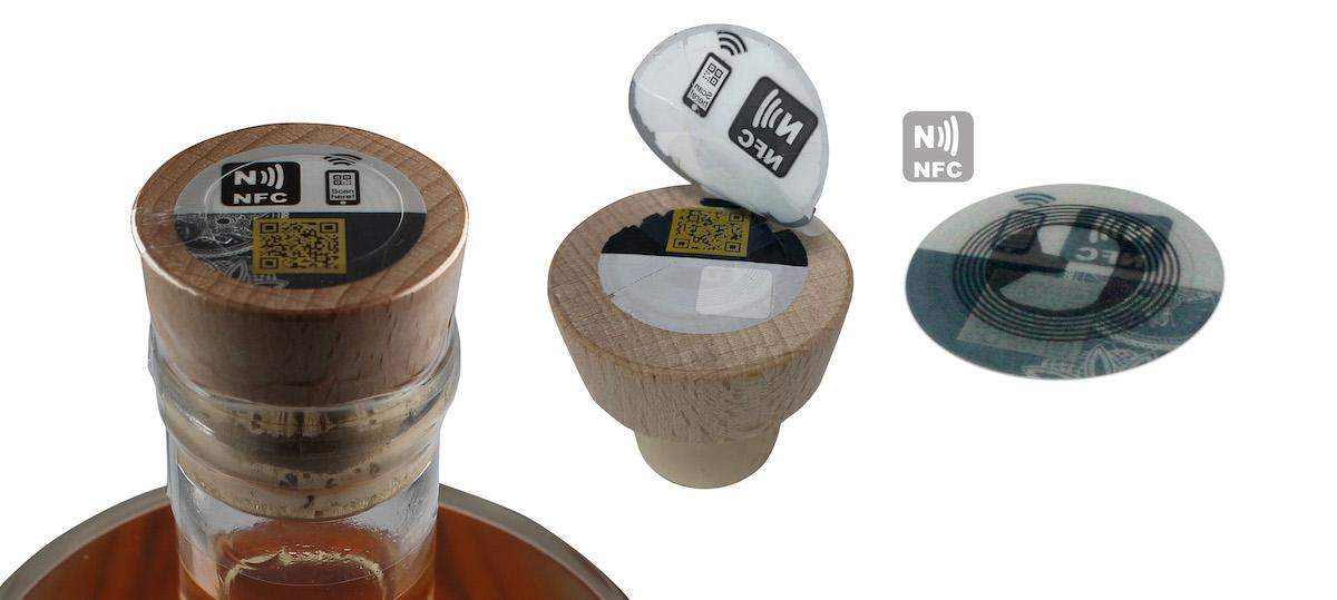 """FINAT-Preis 2019, Gewinner in der Kategorie Sicherheit: """"VOID-Etikett für Flaschen mit integriertem NFC-Chip"""".(Bild: Securikett)"""