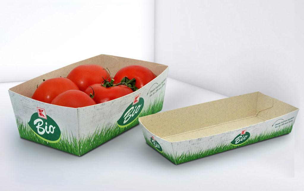 Lebensmittelschalen aus Graskarton (Bild: Karl Knauer KG)