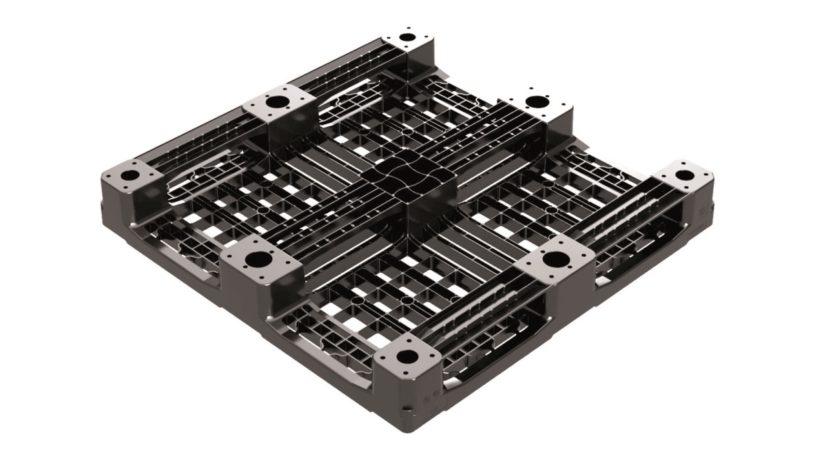Die Drei-Kufen-Palette CP3 ist mit den Maßen 1.140 x 1.140 mm für die Containerbeladung optimiert. (Bild: Cabka-IPS)
