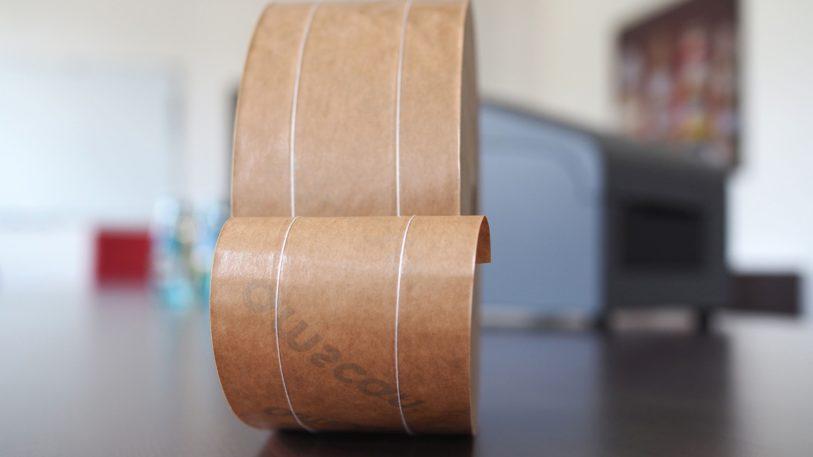 Klebestreifen mit einer Fadenverstärkung aus Naturfaser (Bild: Neubronner)