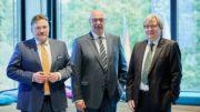 Kontinuität und Wechsel an der Spitze des GDA: Marius Baader, Christian Wellner, Hinrich Mählmann (v.l.n.r., Bild: GDA)
