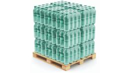 Mit einem kontaktlosen und sparsamen Heißleimauftrag lassen sich Verpackungen sicher und effizient palettieren. (Bild: Robatech GmbH)