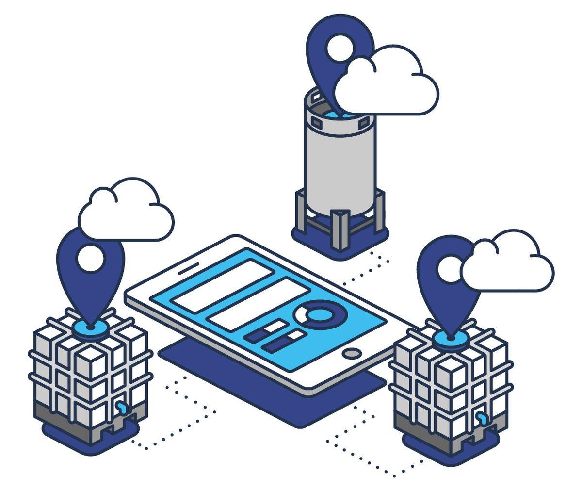 Schema-Darstellung IBC-Kreislauf mit Packwise Smart Cap (Abbildung: Packwise GmbH)