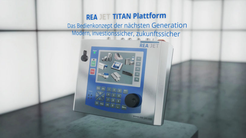 Die REA JET TITAN Plattform – das einheitliche Bedienkonzept für alle REA Kennzeichnungssysteme. (Bild: REA Elektronik GmbH)