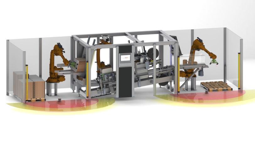 Die Robot-Flexline bietet höchste Flexibilität auf engstem Raum. (Bild: transnova-RUF)