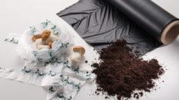 Mit dem zertifiziert kompostierbaren Kunststoff ecovio® bietet die BASF ein Materialportfolio für unterschiedliche Anwendungen an. (Bild: BASF 2019)