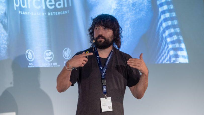 TerraCycle-CEO auf der FachPack 2019 (Bild: NürnbergMesse/Thomas Geiger)