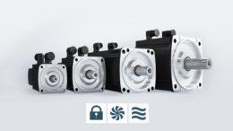 Kompakte wassergekühlte Servomotoren in kleineren Baugrößen bieten hohe Leistung. (Bild: Baumüller)