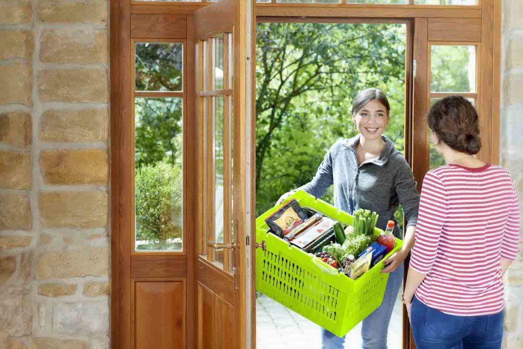 Nachhaltige, sichere Lösung im Lebensmittel-e-Commerce-Bereich mit dem MB Food&Delivery Behälter. (Bild: BITO-Lagertechnik Bittmann GmbH)