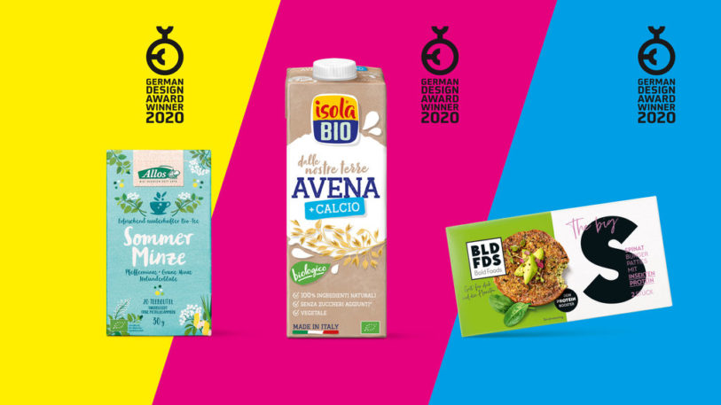 Ausgezeichnet mit dem German Design Award – das Packaging von Allos Tee, Isola Bio & Bold Foods. (Bild: Hajok Design GmbH & Co. KG)