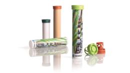 Die neue Sanner BioBase® Brausetablettenverpackung besteht zu über 90 Prozent aus biobasiertem Material. (Bild: Scanner GmbH)