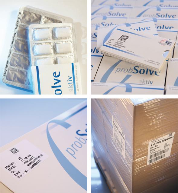 Codierung und Etikettierung in der Pharma Industrie. (Bild: Bluhm Systeme GmbH)