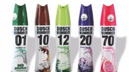 Duschnummer – Die Schaumdusche, verpackt in Aerosoldosen aus PET, lässt sich gut recyceln, ist robust und komfortabel in der Handhabung. Umhüllt mit bedruckter Schrumpffolie aus PET. (Bild: Illert GmbH & Co. KG)