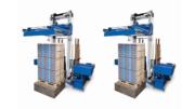 Mit vertikalem Kantenschutz sichert und stützt die Evolution SoniXs MS-6-H gestapelte Produkte wie Obststeigen oder Kunststoffkisten. (Bild: Mosca)