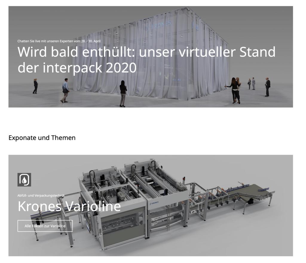 Screenshot der Webseite von Krones