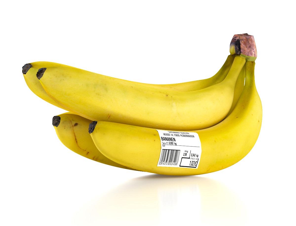 Die Selbstklebe-Etiketten lassen sich direkt auf Lebensmittel wie Obst und Gemüse verkleben.