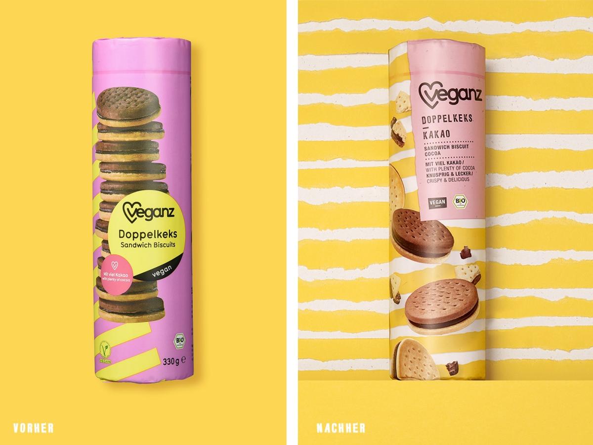 Das VEGANZ Doppelkeks-Design Kakao im Vergleich