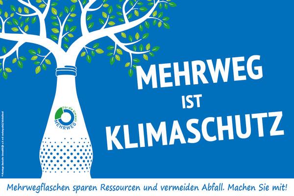 """Poster der Kampagne """"Mehrweg ist Klimaschutz"""" (Bild: Deutsche Umwelthilfe e.V.)"""
