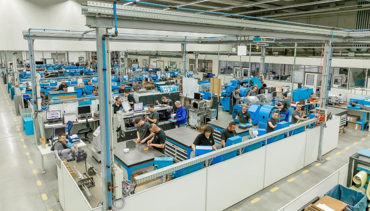 Blick in die Produktion der Marbach-Unternehmenszentrale in Heilbronn.