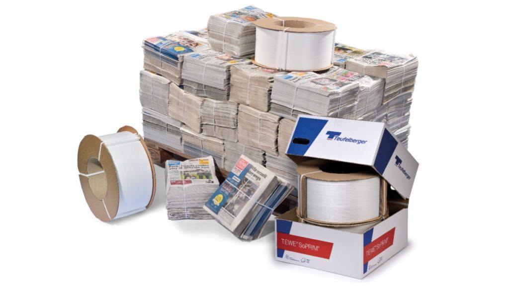 TEWE® SoPRIM® als die sichere Lösung zum Bündeln von Zeitungen und Wellpappe.