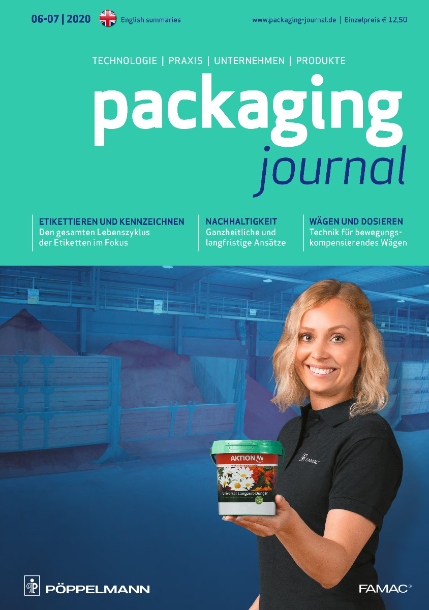 Titelbild packaging journal Septemberausgabe 2020