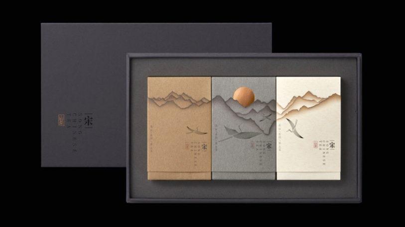 Mit einem Gold Award wurde die chinesische Teeverpackung Mountain tea – Song prämiert.