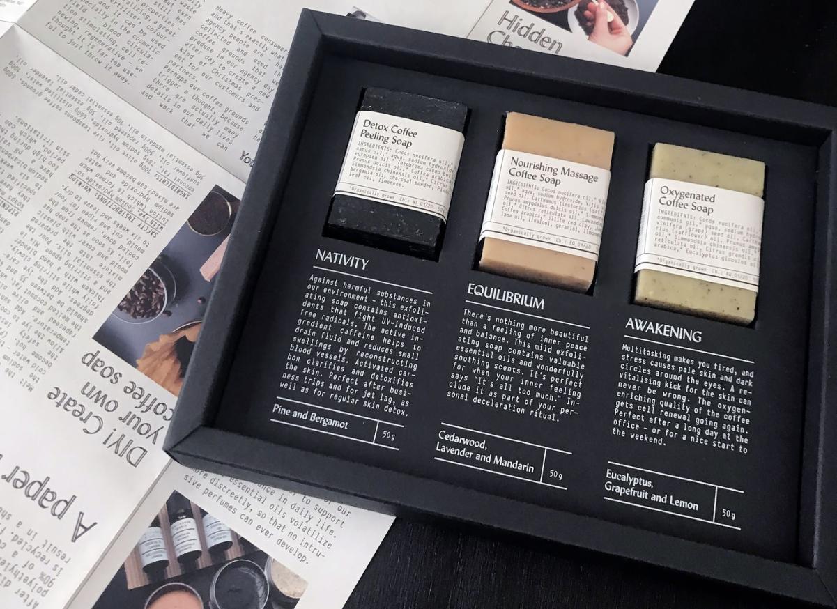 Designpreis in Rot für Verpackungen der Kategorie Schönheit und Gesundheit für Grace of Waste