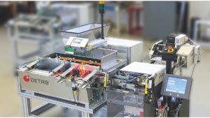 Ein Gerät zur Verpackung von Kleinteilen