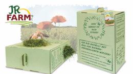 Erntefrisches Heu in Graspapier-Verpackung