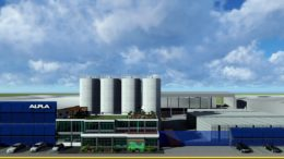 Rendering des geplanten HDPE-Recyclingwerks von ALPLA in Mexiko