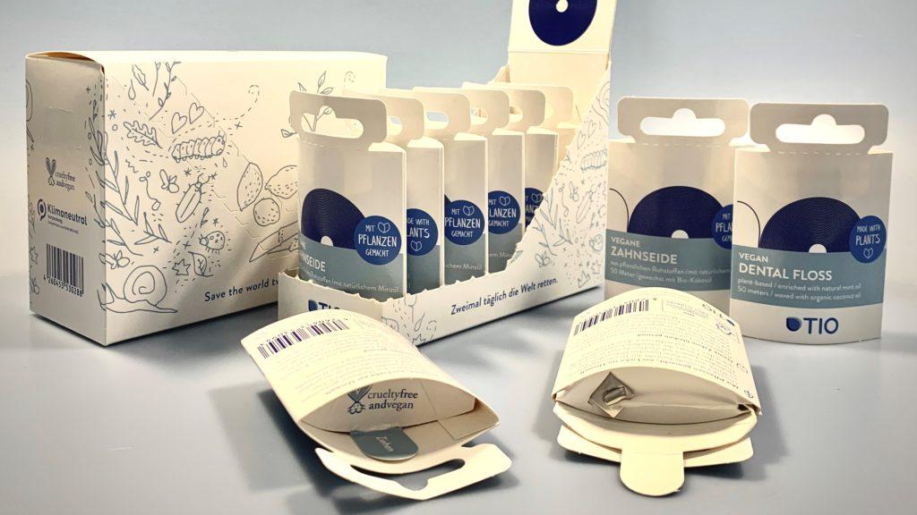 Spenderbox aus Karton für Zahnseide (STROBEL AG)