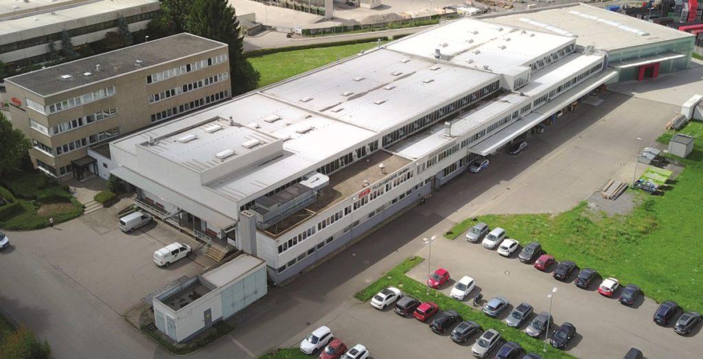 Luftbildaufnahme des Firmengelände der FLUX-Geräte GmbH
