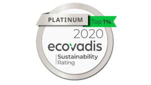 Sappi Europe erhält Platin für die Nachhaltigkeit.