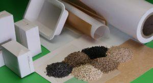 Verschiedene Granulate und Papierschalen Barrierelösungen für Lebensmittelverpackungen