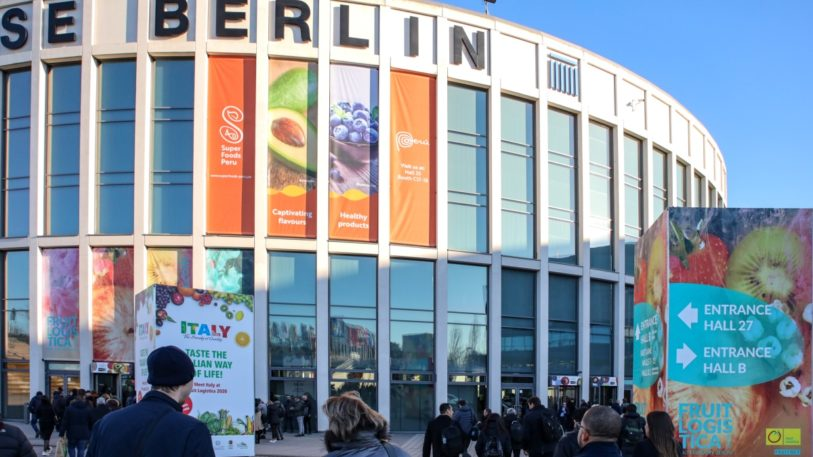 FRUIT LOGISTICA 2020 Eingang Süd der Messe Berlin