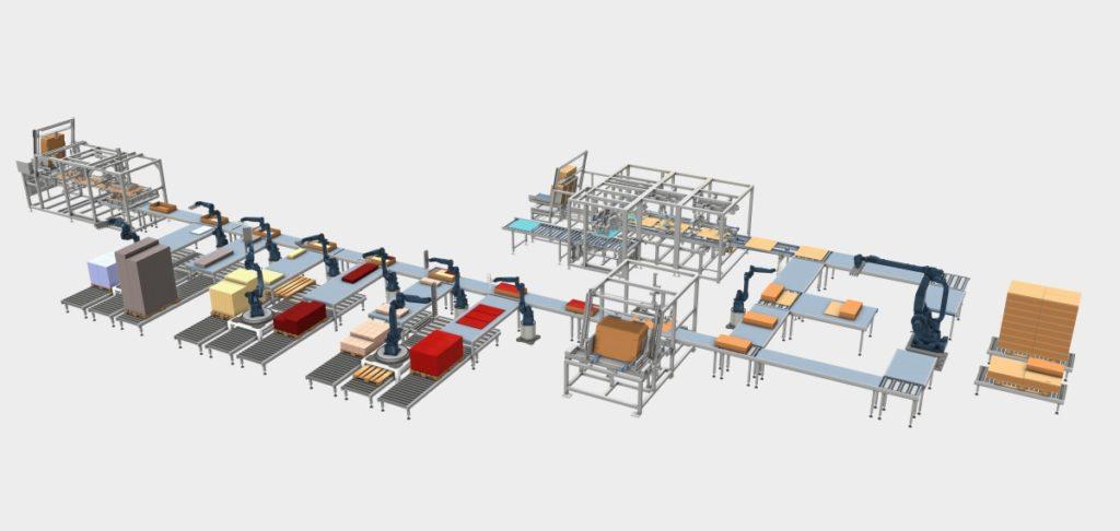 Darstellung einer Komplettlösung zum Verpacken mehrteiliger Komponenten bei Wächter Packautomatik